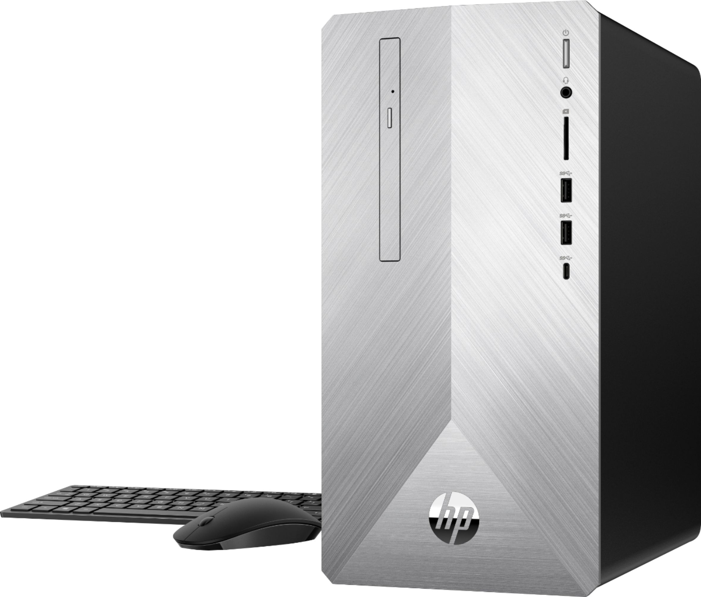 Left Zoom. HP - Geek Squad Certified Refurbished Pavilion Desktop - Intel Core i5 - 12GB Memory - 1TB HDD + 128GB SSD - Natural Silver/Brushed Hairline Pattern.