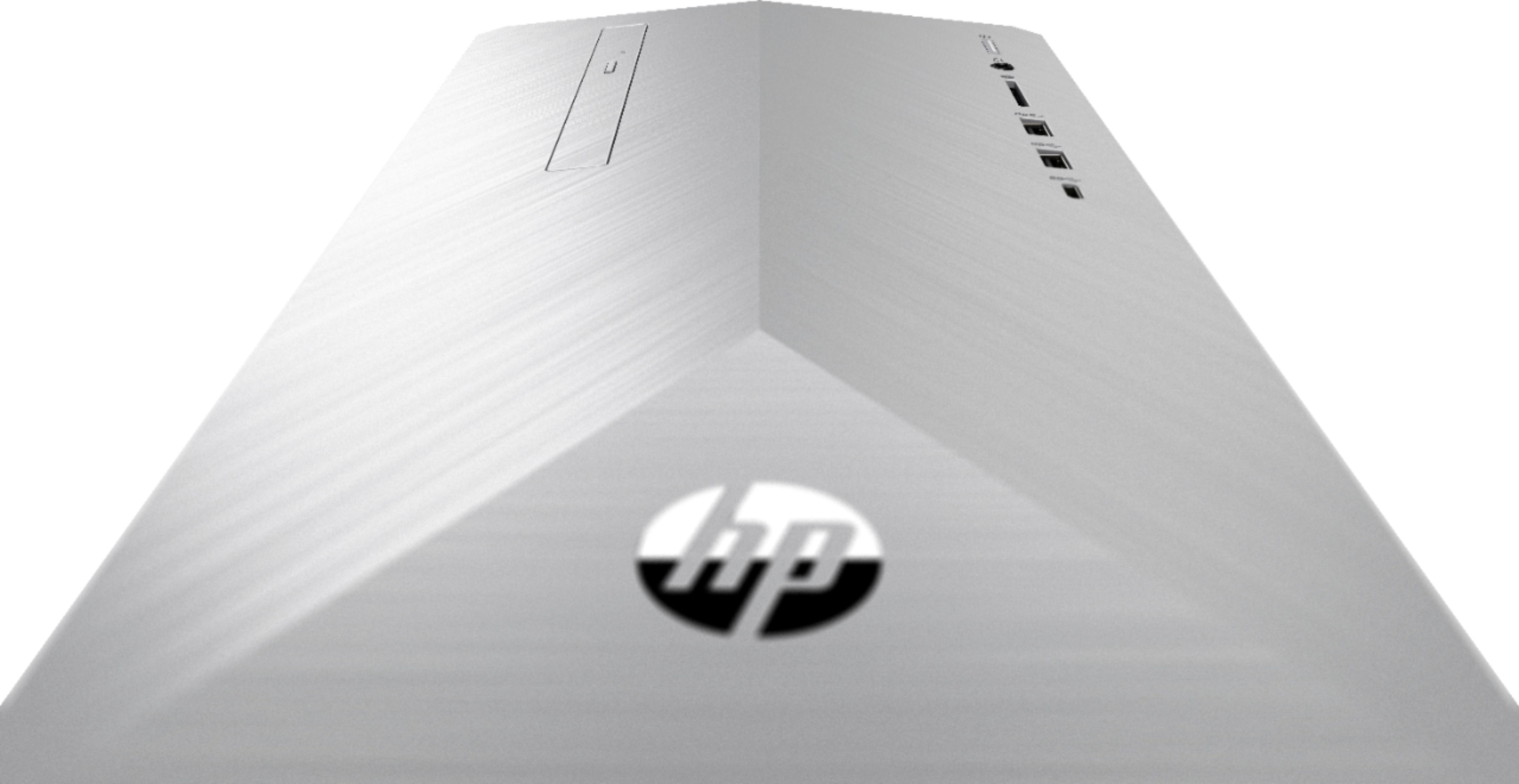 Alt View Zoom 14. HP - Geek Squad Certified Refurbished Pavilion Desktop - Intel Core i5 - 12GB Memory - 1TB HDD + 128GB SSD - Natural Silver/Brushed Hairline Pattern.