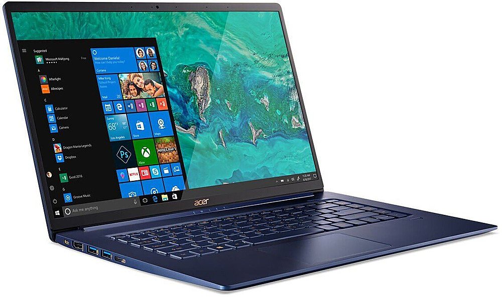 "Angle Zoom. Acer - Swift 5 15.6"" Refurbished Laptop - Intel Core i5 8265U - 8GB Memory - 256GB Solid State Drive - Blue."
