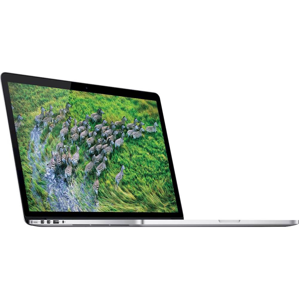 "Angle Zoom. Apple - MacBook Pro 15.4"" Pre-Owned Laptop - Intel Core i7 - 8GB Memory - 256GB Solid State Drive - Silver."