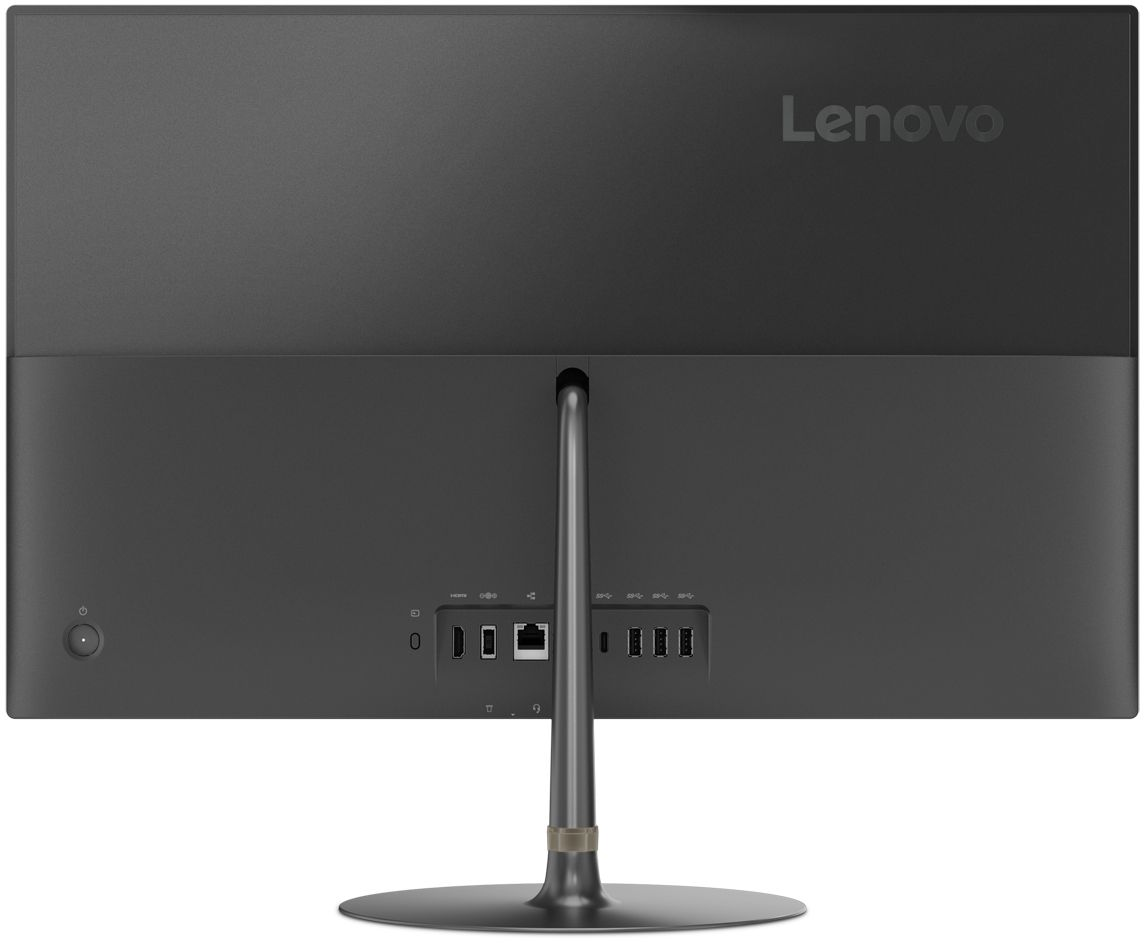 """Back Zoom. Lenovo - IdeaCentre 730S 23.8"""" Touch-Screen All-In-One - Intel Core i7 - 8GB Memory - 256GB Solid State Drive - Iron Gray."""