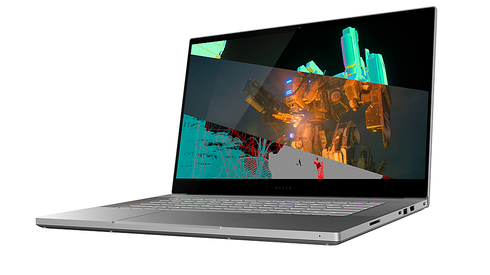 "Angle Zoom. Razer - Blade 15.6"" 4K UHD Touch-Screen Laptop - Intel Core i7 - 32GB Memory - NVIDIA Quadro RTX 5000 Studio Edition - 1TB SSD - Mercury."