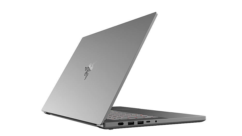 "Left Zoom. Razer - Blade 15.6"" 4K UHD Touch-Screen Laptop - Intel Core i7 - 32GB Memory - NVIDIA Quadro RTX 5000 Studio Edition - 1TB SSD - Mercury."
