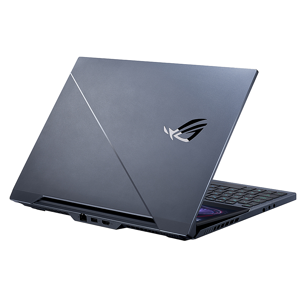 "Alt View Zoom 3. ASUS - ROG Zephyrus Duo 15 15.6"" 4K Ultra HD Laptop - Intel Core i9 - 32GB Memory - NVIDIA GeForce RTX 2080 SUPER - 2TB SSD - Gunmetal Gray."