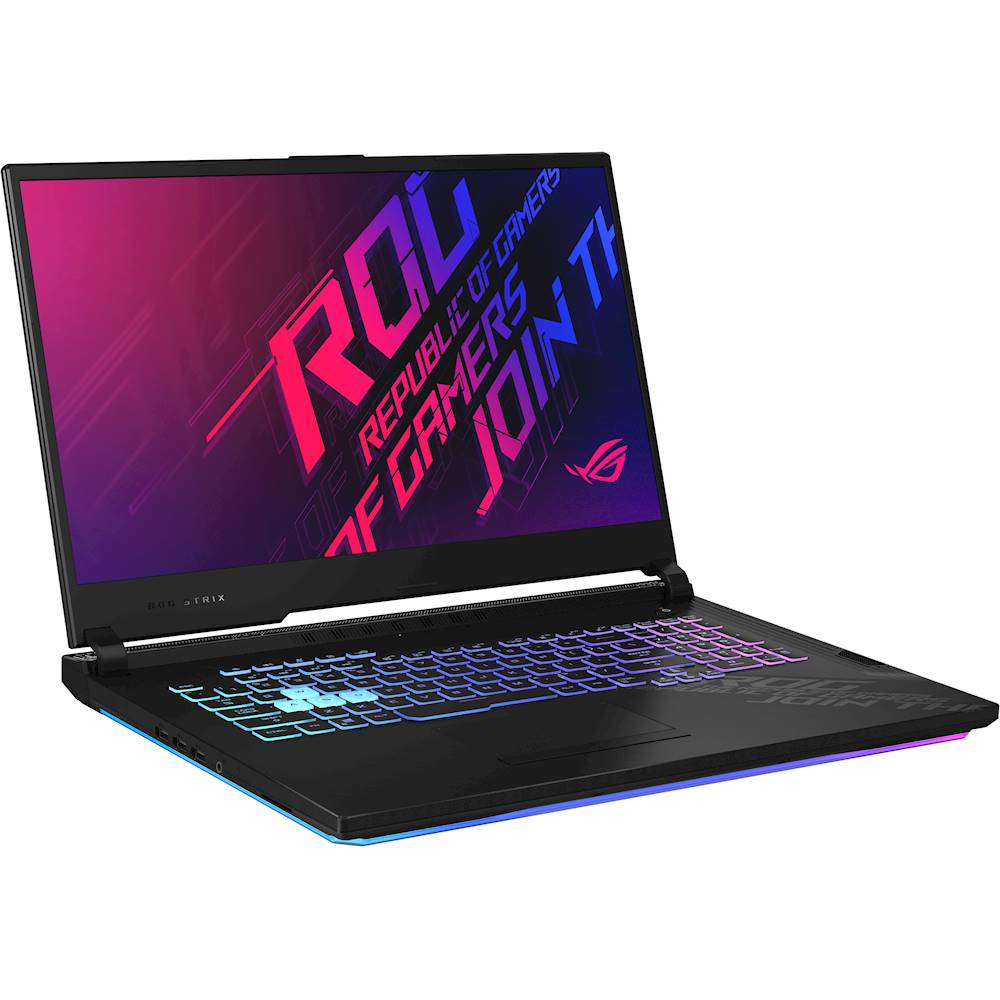 "Angle Zoom. ASUS - ROG Strix G17 17.3"" Laptop - Intel Core i7 - 16GB Memory - NVIDIA GeForce RTX 2070 - 512GB SSD - Original Black."