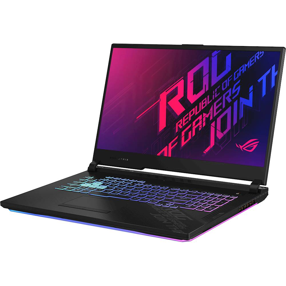 "Left Zoom. ASUS - ROG Strix G17 17.3"" Laptop - Intel Core i7 - 16GB Memory - NVIDIA GeForce RTX 2070 - 512GB SSD - Original Black."
