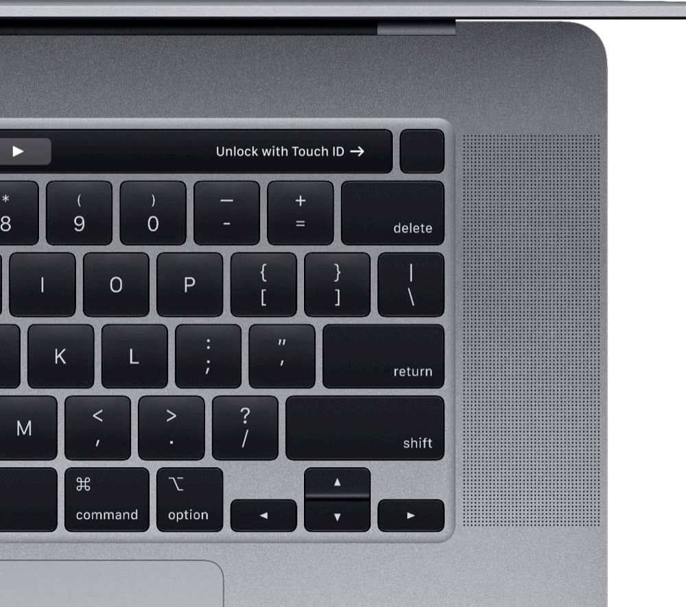 """Alt View Zoom 13. Apple - MacBook Pro 16"""" Display with Touch Bar - Intel Core i7 - 32GB Memory - 512GB SSD - Space Gray."""