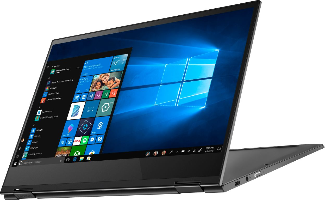 """Left Zoom. Lenovo - Yoga C630 WOS 2-in-1 13.3"""" Touch-Screen Laptop - Snapdragon 850 - 8GB Memory - 128GB Solid State Drive (Verizon) - Iron Gray."""