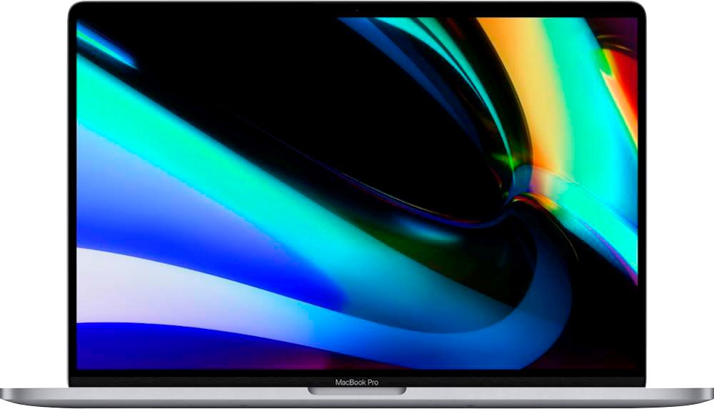 """Front Zoom. Apple - MacBook Pro 16"""" Display with Touch Bar - Intel Core i9 - 64GB Memory - 2TB SSD - Space Gray."""