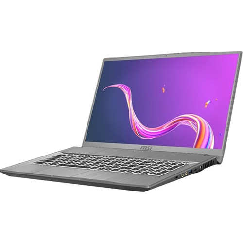 "Alt View Standard 11. MSI - Creator 17M 17.3"" Laptop - Intel Core i7 - 16GB Memory - NVIDIA GeForce RTX 2060 - 1TB SSD - Silver Gray."