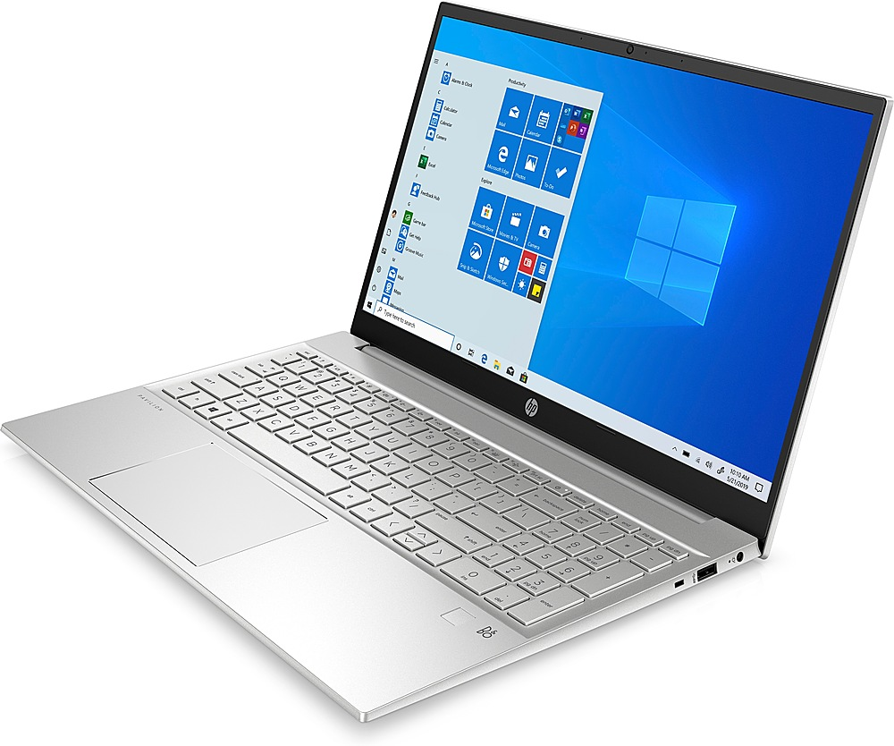 "Angle Zoom. HP - Pavilion 15.6"" Laptop - AMD Ryzen 5 4500U - 8GB Memory - 512GB Solid State Drive - Silver - Silver."