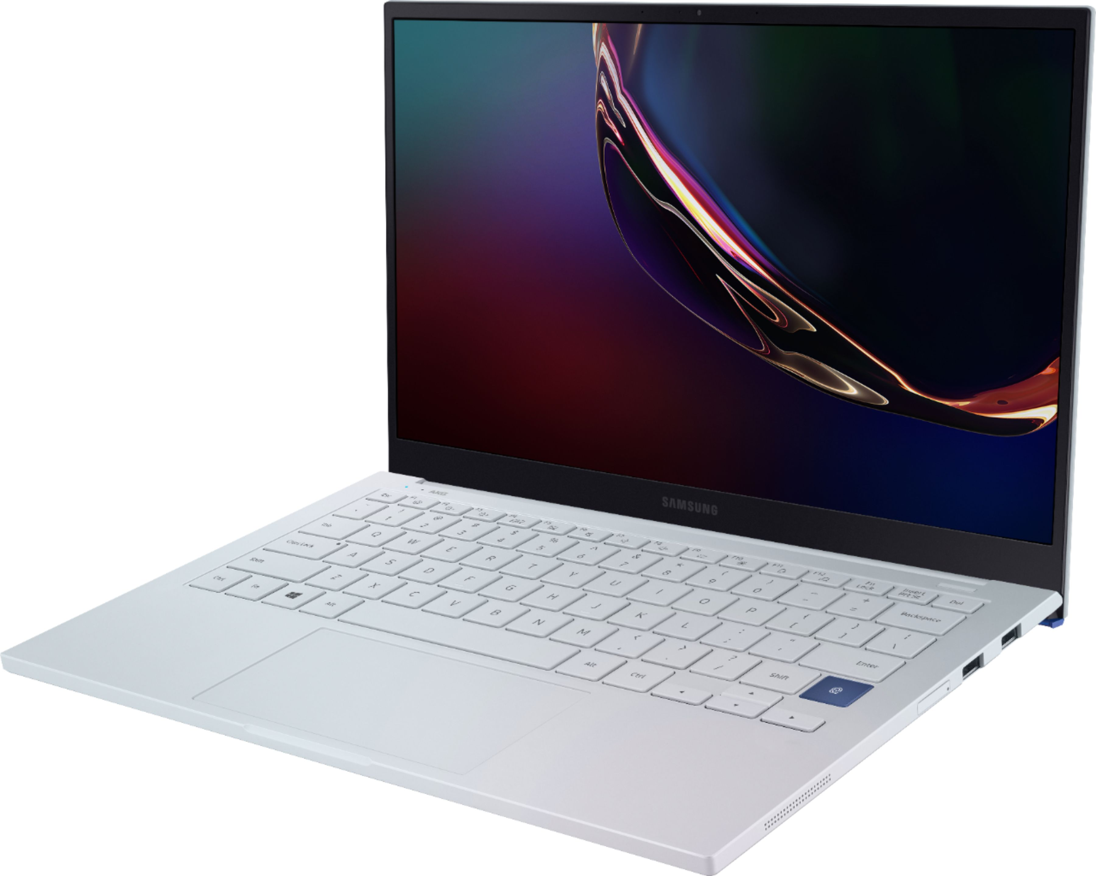 "Left Zoom. Samsung - Galaxy Book Ion 13.3"" Laptop - Intel Core i7 - 8GB Memory - 512GB SSD - Aura Silver."