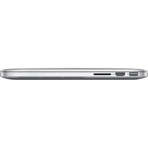 "Angle Standard. Apple - MacBook Pro 15.4"" Pre-owned Laptop - Intel Core i7 - 16GB Memory - 256GB Flash Storage - Silver."
