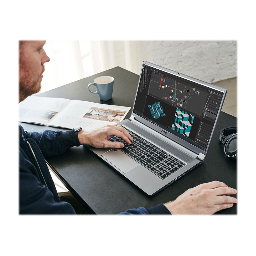 "Alt View Zoom 11. MSI - Creator 17 17.3"" 4K Ultra HD Laptop - Intel Core i7 - 32GB Memory - NVIDIA GeForce RTX 2080 SUPER - 2TB SSD - Space Gray With Silver Diamond Cut."