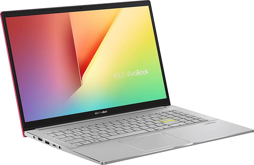 """Angle Zoom. ASUS - VivoBook S15 15.6"""" Laptop - Intel Core i5 - 8GB Memory - 512GB SSD - Resolute Red/Transparent Silver."""