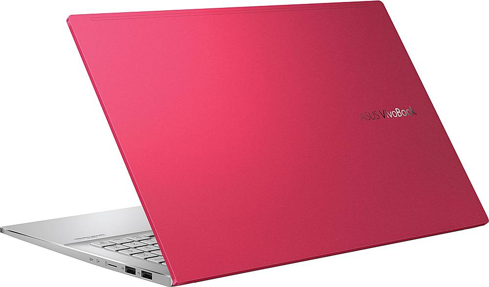 """Alt View Zoom 1. ASUS - VivoBook S15 15.6"""" Laptop - Intel Core i5 - 8GB Memory - 512GB SSD - Resolute Red/Transparent Silver."""