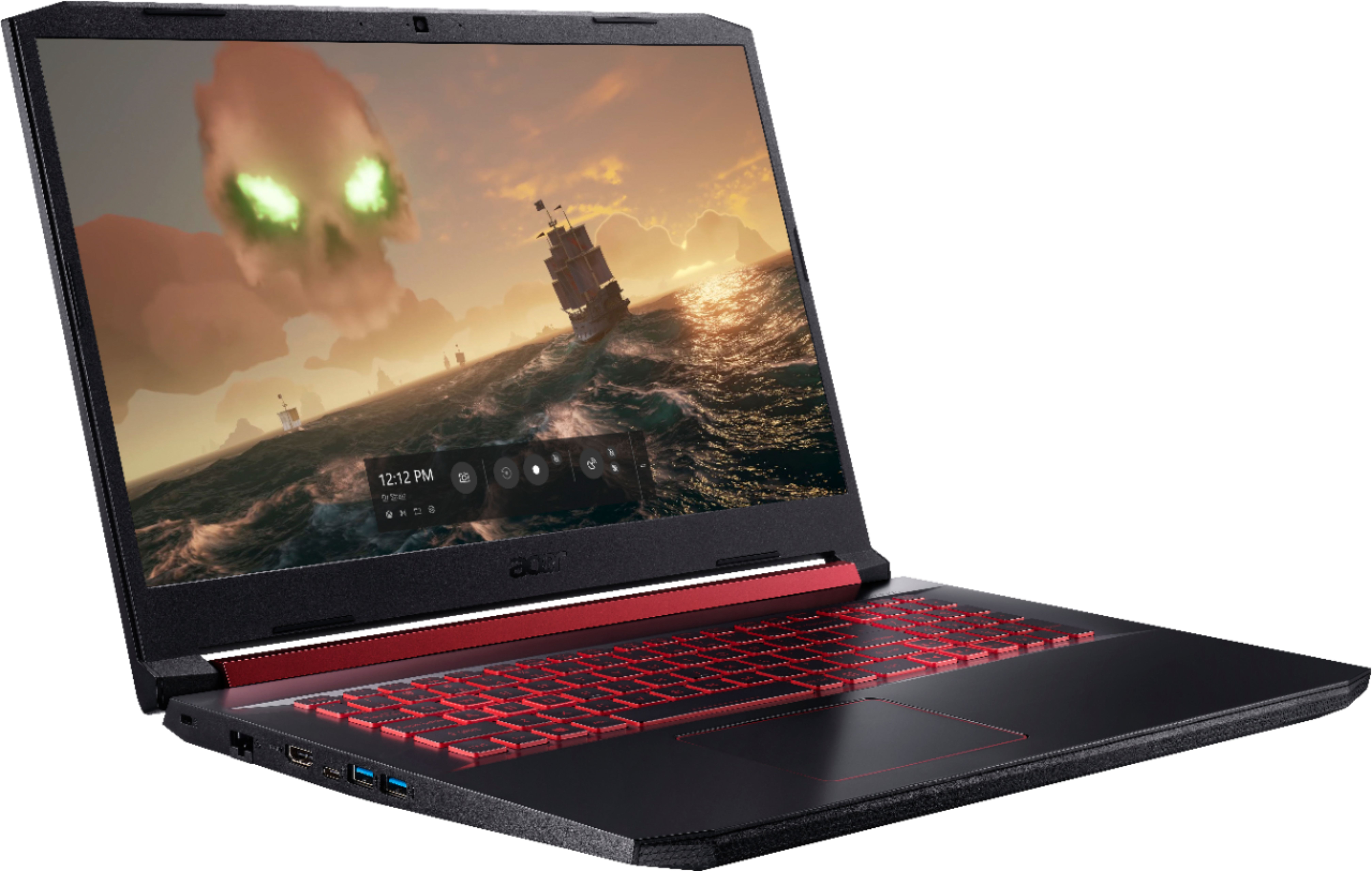 """Angle Zoom. Acer - Nitro 5 17.3"""" Gaming Laptop - Intel Core i5 - 8GB Memory - NVIDIA GeForce GTX 1650 - 512GB Solid State Drive - Black."""