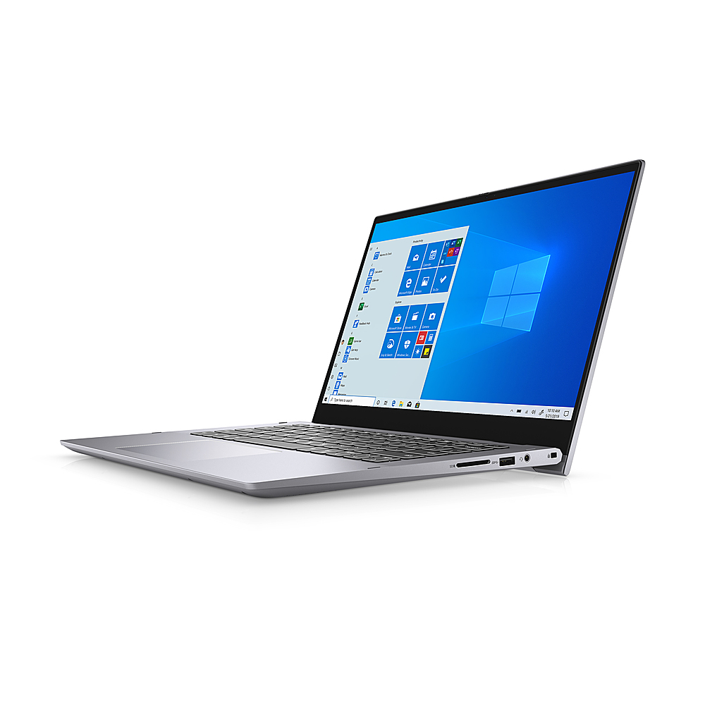 "Left Zoom. Dell - Inspiron 14.0"" FHD 2in1 Laptop - i5-1135G7 - 8GB - Intel Iris Xe Graphics - 256 GB SSD - Titan Grey."