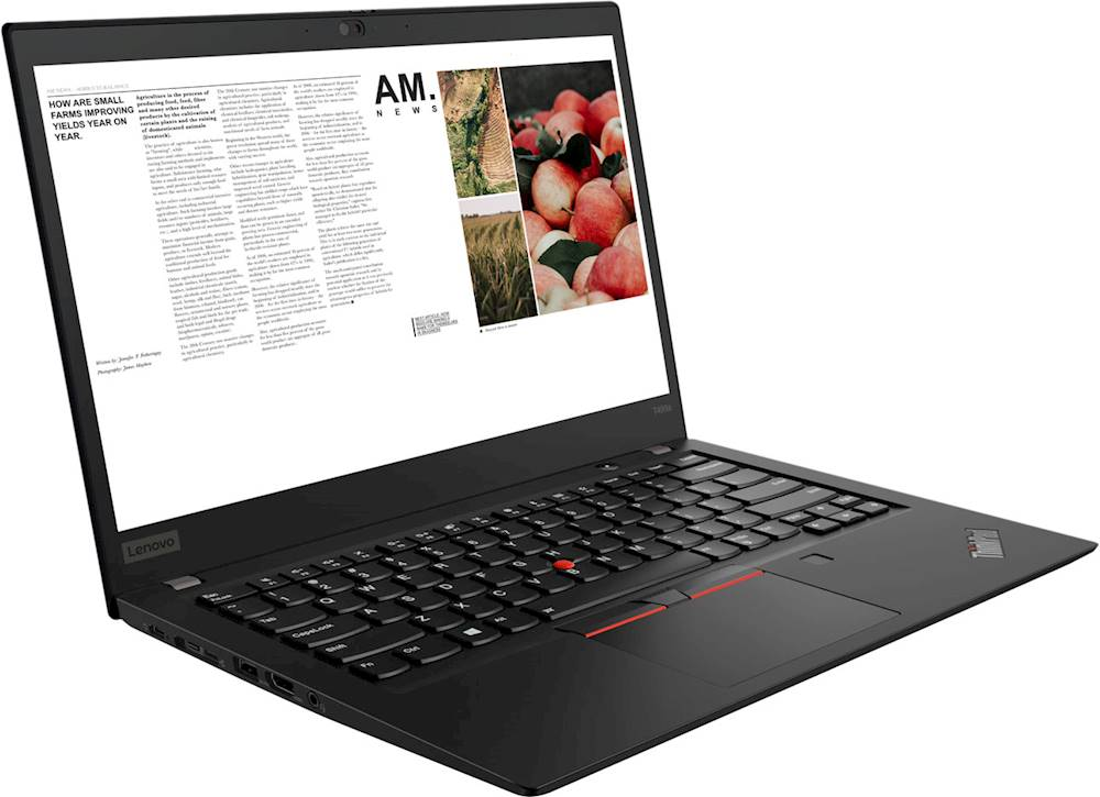 "Angle Zoom. Lenovo - ThinkPad T495s 14"" Touch-Screen Laptop - AMD Ryzen 7 PRO - 16GB Memory - 512GB Solid State Drive - Black."