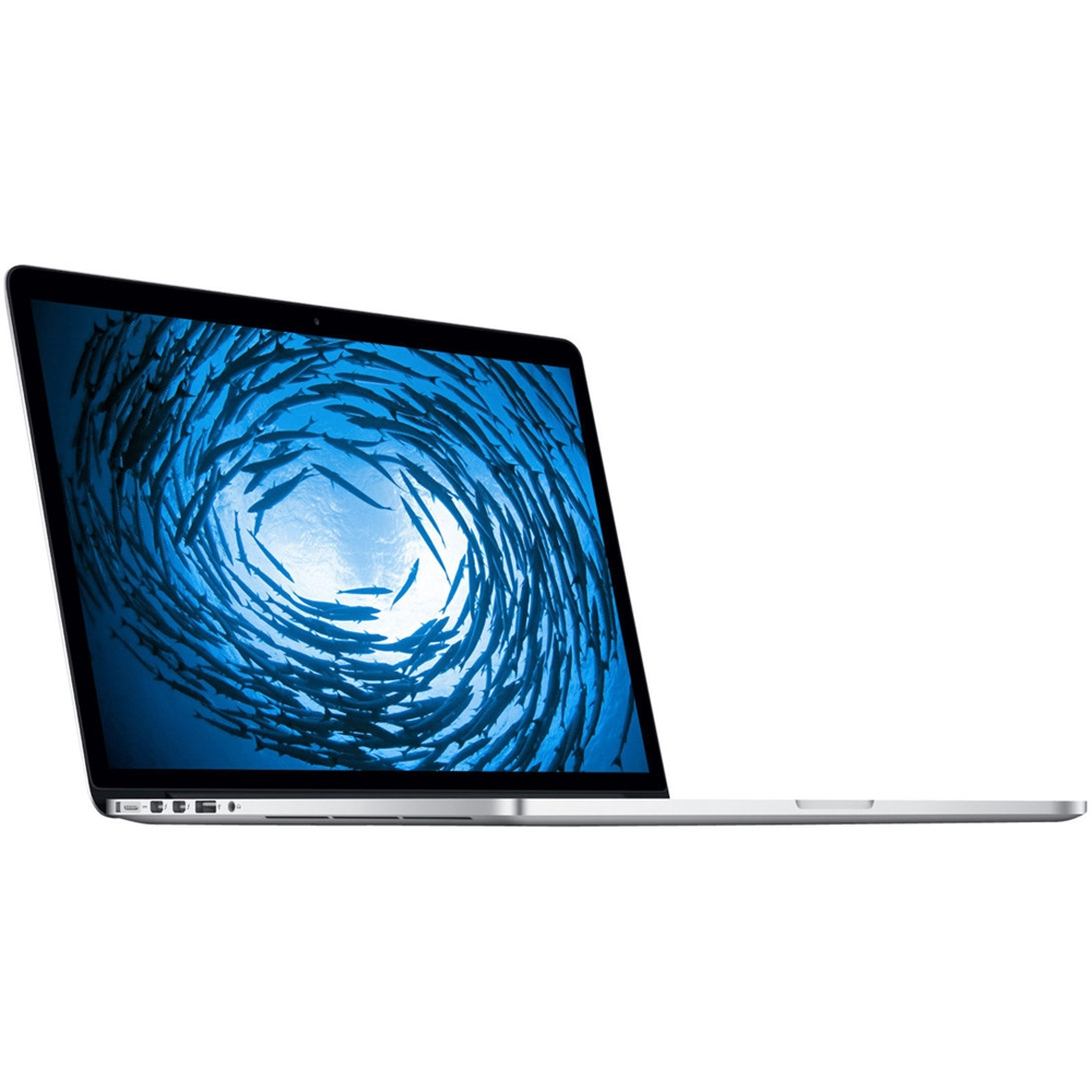 """Left Zoom. Apple - 15.4"""" Pre-Owned Laptop - Intel Core i7 - 16GB Memory - NVIDIA GeForce GT 750M - 512GB Solid State Drive - Silver."""