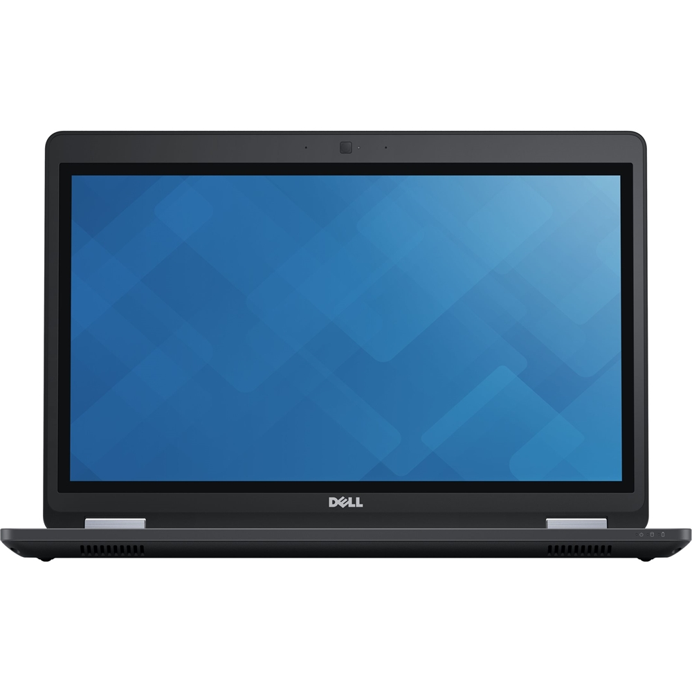 """Front Zoom. Dell - Latitude 15.6"""" Refurbished Laptop - Intel Core i5 - 8GB Memory - 256GB Solid State Drive - Black."""