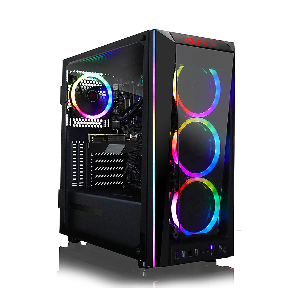 Front Zoom. CLX SET Gaming Desktop -  Intel Core i9 9900KF - 16GB Memory - NVIDIA GeForce RTX 3070 - 480GB SSD + 2TB HDD - Black.