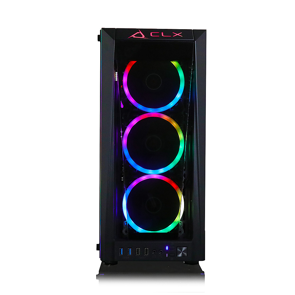 Alt View Zoom 2. CLX SET Gaming Desktop -  Intel Core i9 9900KF - 16GB Memory - NVIDIA GeForce RTX 3070 - 480GB SSD + 2TB HDD - Black.