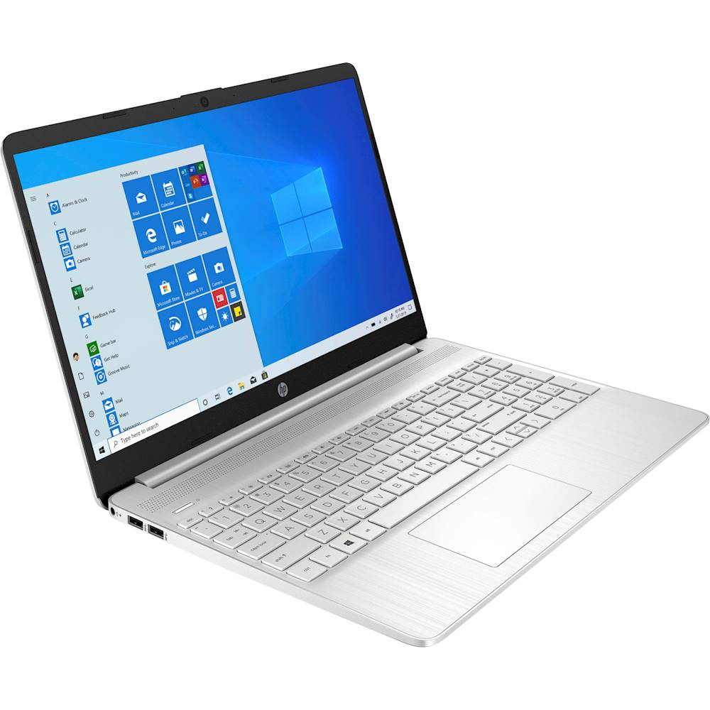 """Angle Zoom. HP - 15.6"""" Touch-Screen Laptop - AMD Ryzen 3 - 8GB Memory - 256GB SSD - Vertical Brushed Pattern, Natural Silver."""