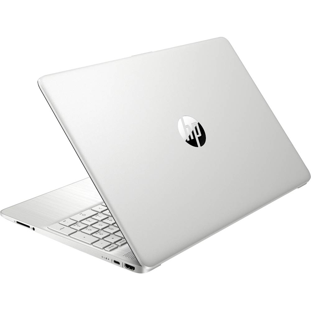 """Alt View Zoom 1. HP - 15.6"""" Touch-Screen Laptop - AMD Ryzen 3 - 8GB Memory - 256GB SSD - Vertical Brushed Pattern, Natural Silver."""