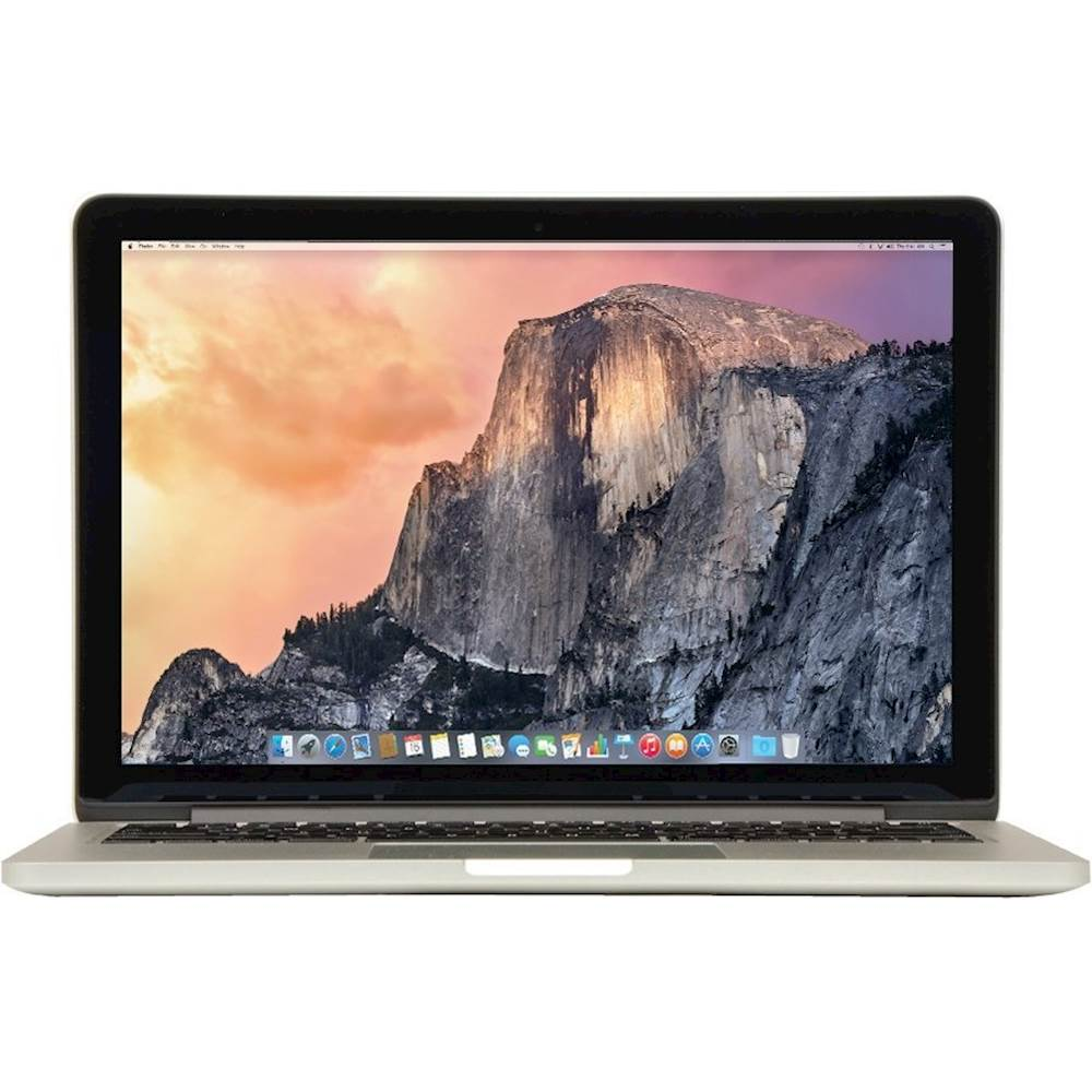 """Front Zoom. Apple - MacBook Pro 13.3"""" Pre-Owned Laptop - Intel Core i5 - 4GB Memory - 128GB Flash Storage - Silver."""