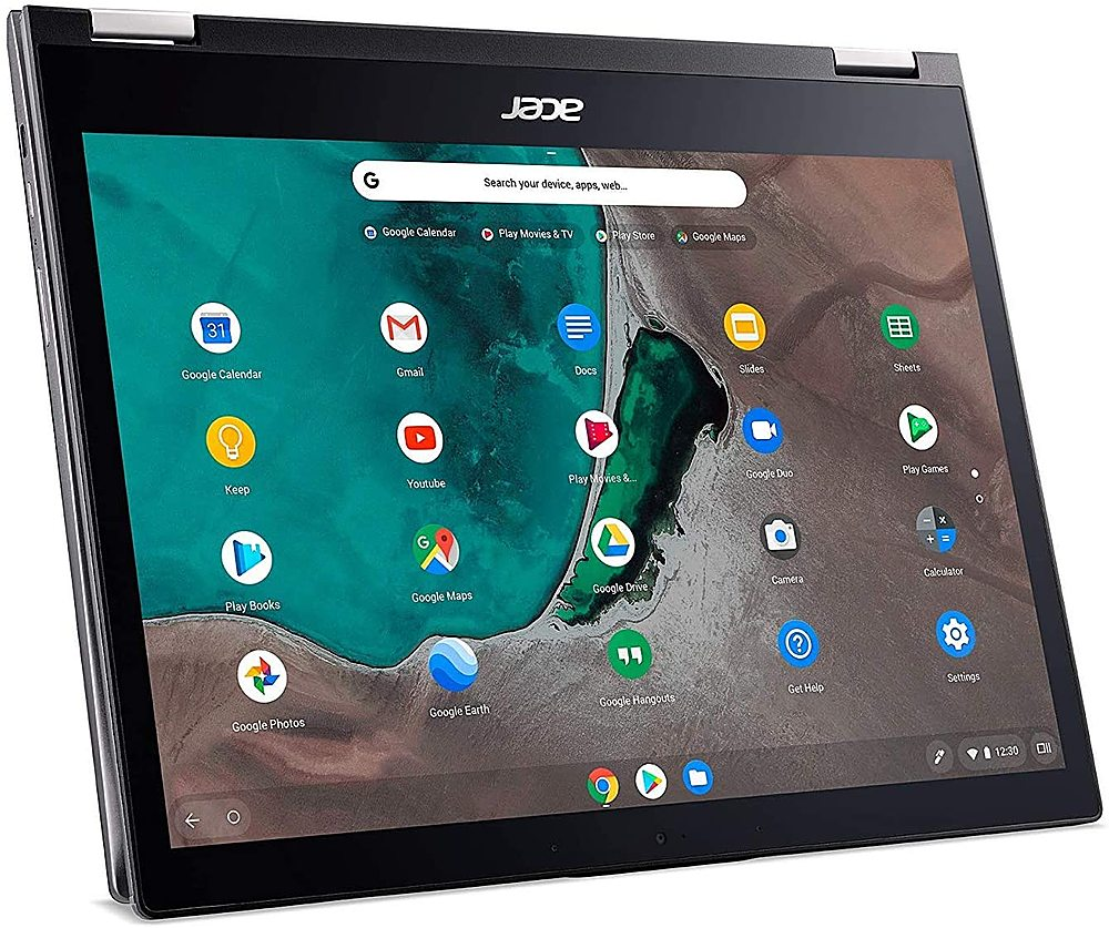 "Left Zoom. Acer - Chromebook Spin 713 Refurbished 13.5"" Chromebook - Intel i5 10210U - 8GB Memory 128GB Solid State Drive."