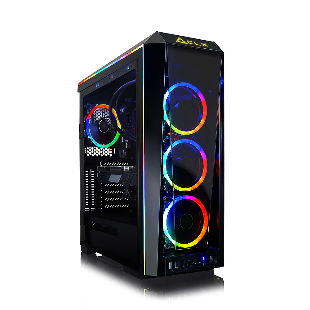 Front Zoom. CLX - SET Gaming Desktop - Intel Core i9 10900K - 64GB Memory - NVIDIA GeForce RTX 3090 - 6TB HDD + 1TB NVMe SSD - Black.
