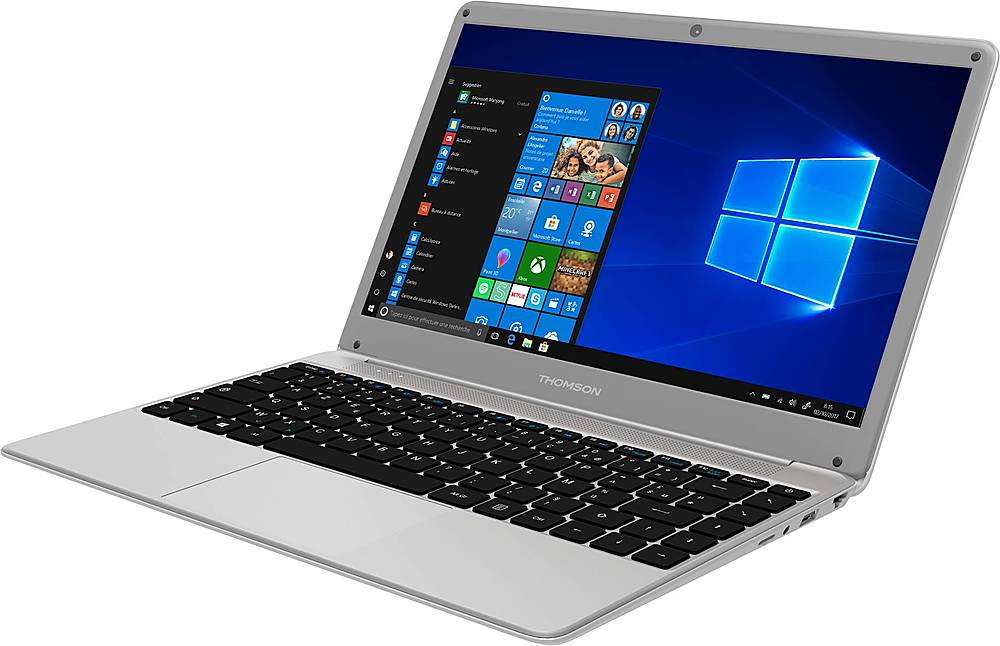 "Left Zoom. Thomson - Neo 14.1"" Laptop - Intel Core i3 - 4GB Memory - 128GB SSD - Silver."