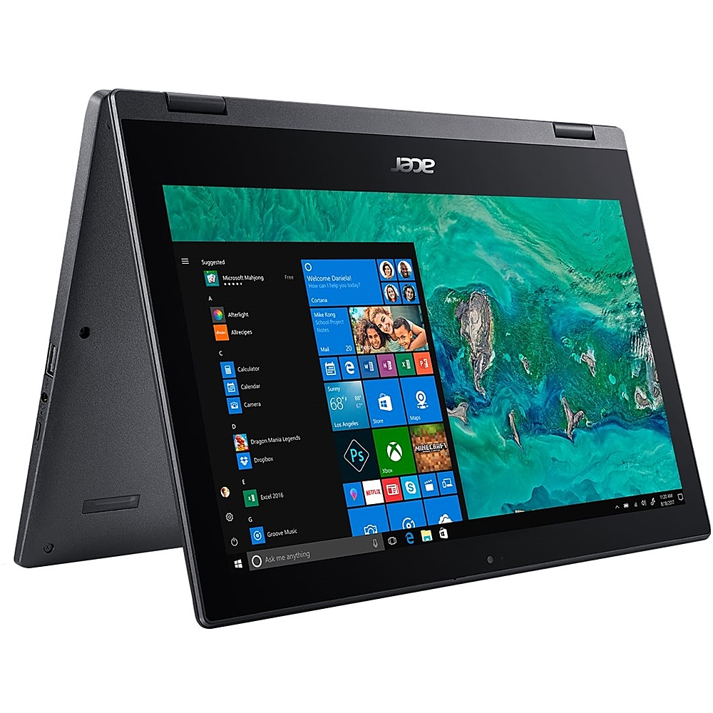 """Alt View Zoom 14. Acer - Spin 1 2-in-1 11.6"""" Refurbished Touch-Screen Laptop - Intel Pentium Silver - 4GB Memory - 64GB eMMC Flash Memory - Obsidian Black."""