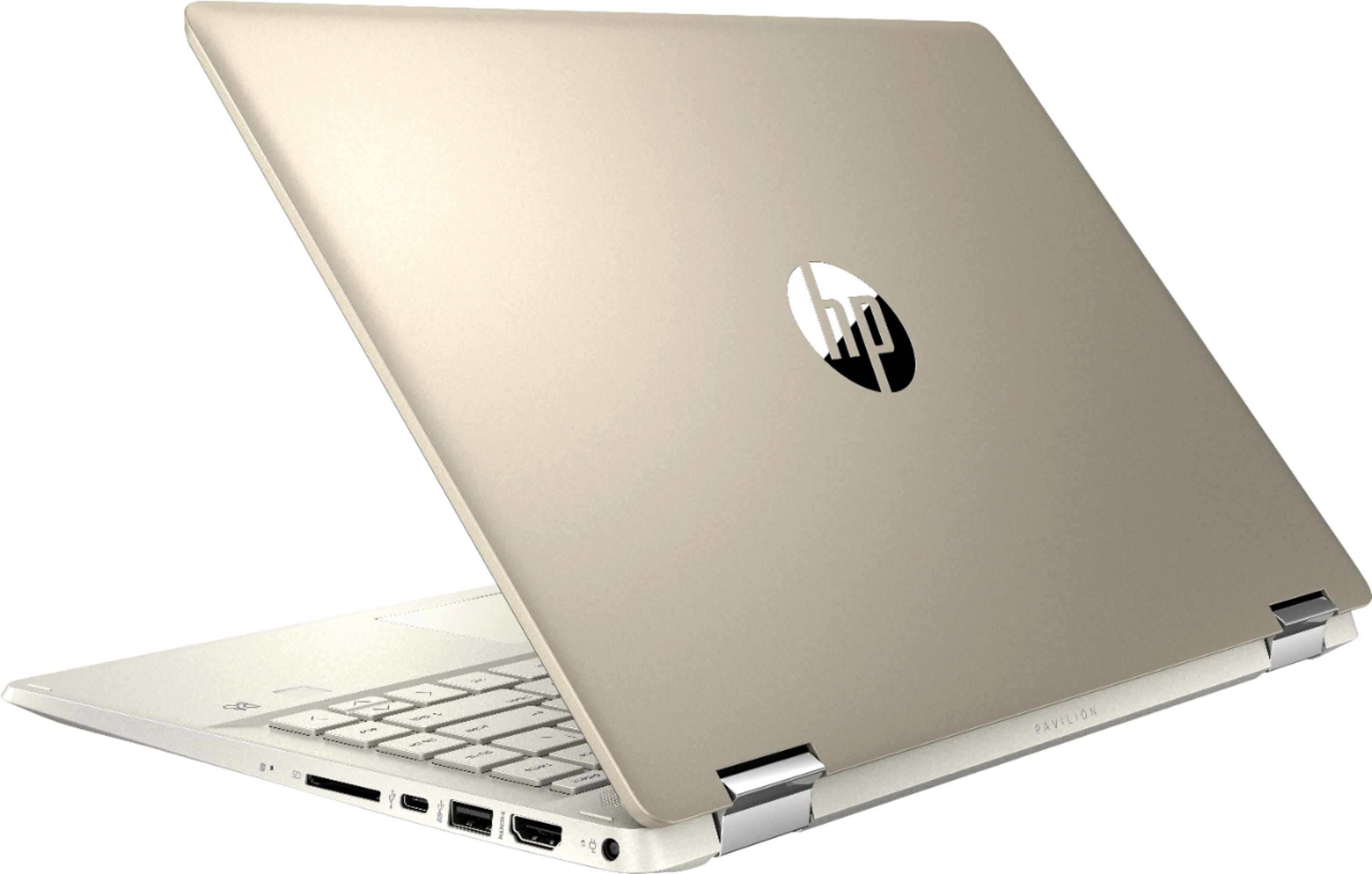 """Alt View Zoom 1. HP - Geek Squad Certified Refurbished Pavilion x360 2-in-1 14"""" Touch-Screen Laptop - Intel Core i5 - 8GB Memory - 128GB SSD - Anodized Finish In Warm Gold And Luminous Gold."""