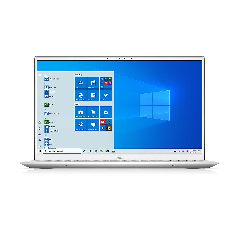 """Front Zoom. Dell - Inspiron 15.6"""" FHD Laptop - 11th Gen Intel Core i5 - 12GB Memory- 512GB SSD Solid State Drive - Silver."""