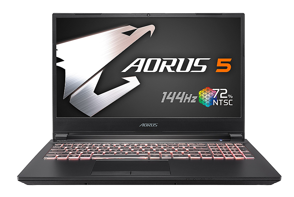 "Front Zoom. Gigabyte -  15.6"" FHD Gaming Laptop - Intel Core i7 -  16GB - NVIDIA GeForce 1660 Ti -  512GB SSD - Black."