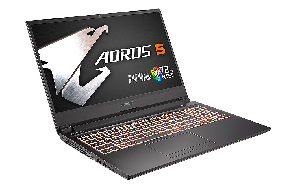 "Left Zoom. Gigabyte -  15.6"" FHD Gaming Laptop - Intel Core i7 -  16GB - NVIDIA GeForce 1660 Ti -  512GB SSD - Black."