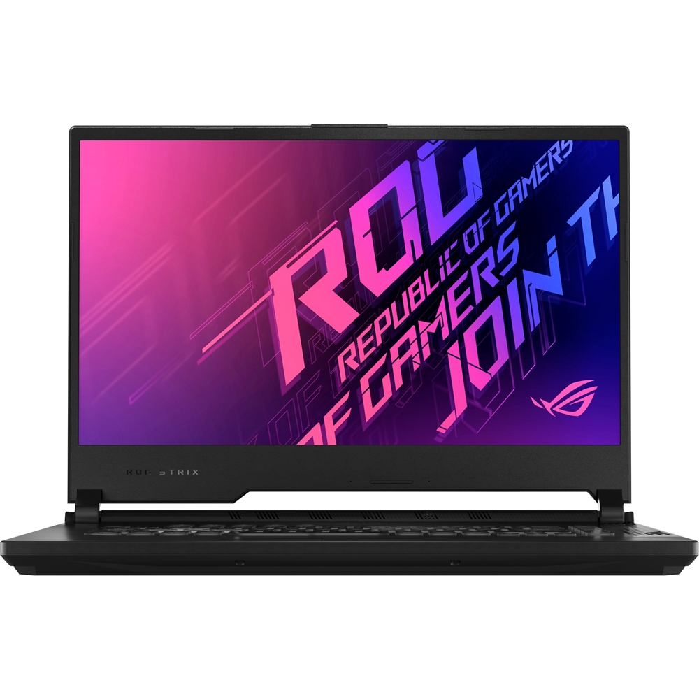 "Front Zoom. ASUS - ROG Strix G15 15.6"" Laptop - Intel Core i7 - 16GB Memory - NVIDIA GeForce RTX 2060 - 512GB SSD - Original Black."