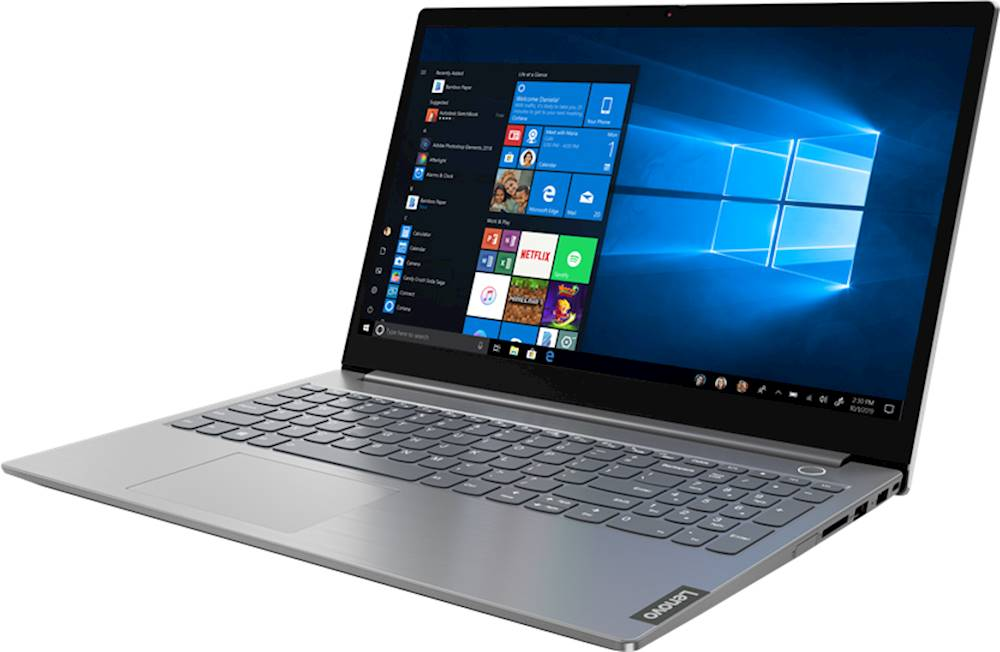 """Left Zoom. Lenovo - ThinkBook 15 IIL 15.6"""" Laptop - Intel Core i5 - 8GB Memory - 256GB Solid State Drive - Mineral Gray."""