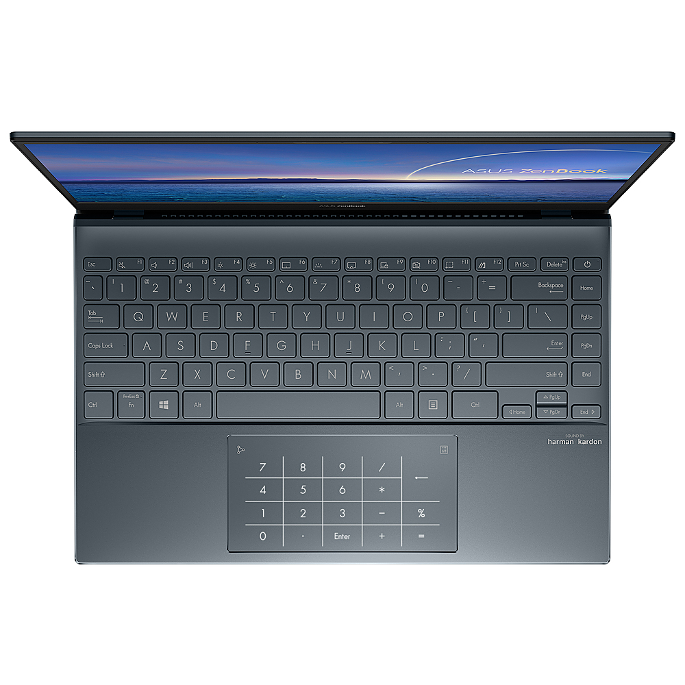 "Alt View Zoom 4. ASUS - ZenBook - 13.3"" Ultra-Slim Laptop - Intel Core i7-1065G7- 8GB 512GB - Win 10 in Pine Grey - Pine Grey."