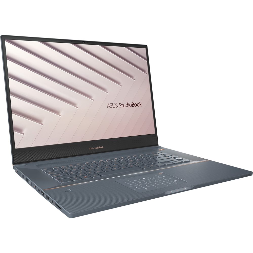 "Left Zoom. ASUS - ProArt StudioBook Pro 17"" Laptop - Intel Core i7 –Quadro RTX3000- 16GB Memory - 1TB SSD - Turquoise Gray - Turquoise Gray."