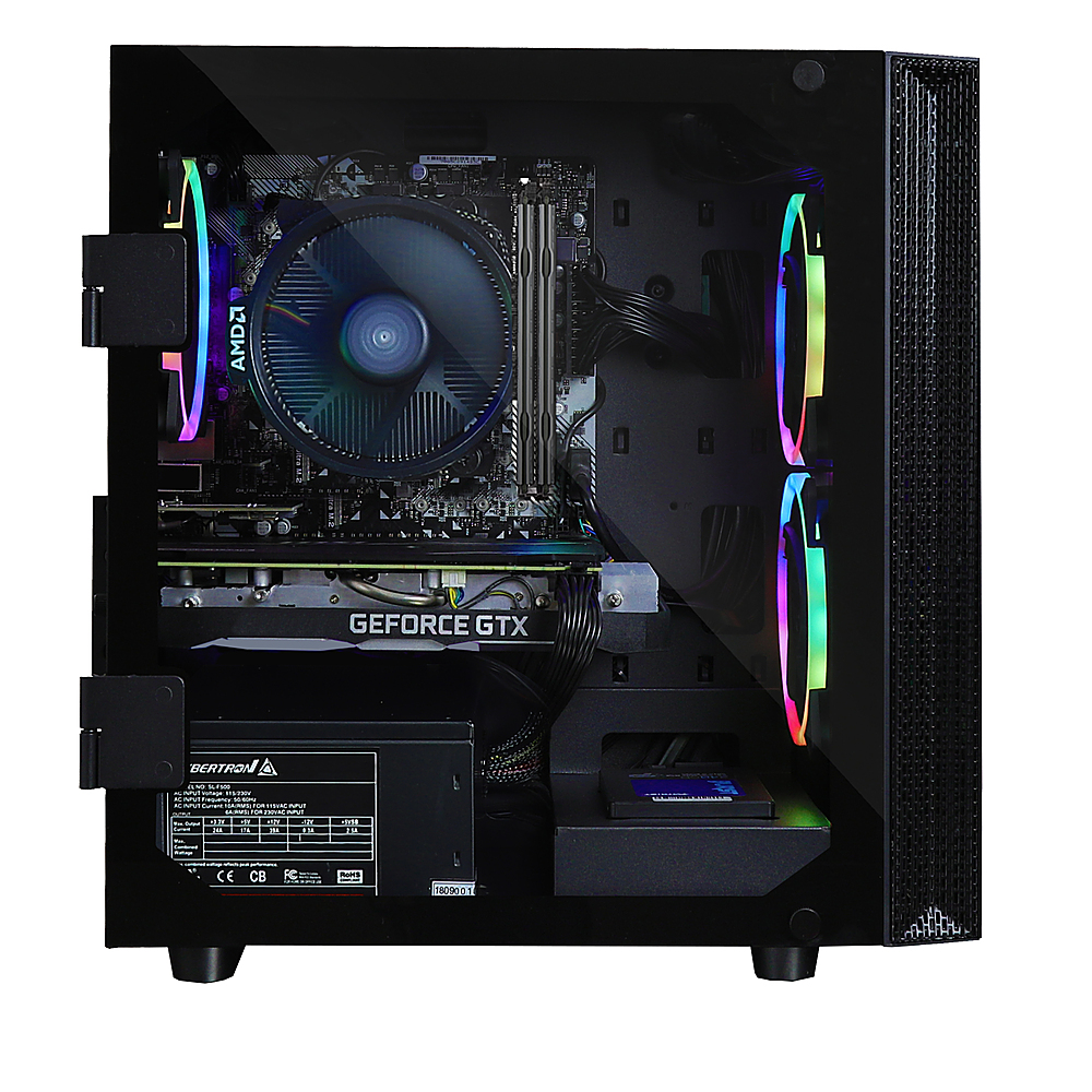Alt View Zoom 4. CLX - SET Gaming Desktop - AMD Ryzen 5 3600X - 16GB Memory - NVIDIA GeForce GTX 1660 Ti - 480GB SSD + 2TB HDD - Black/RGB.