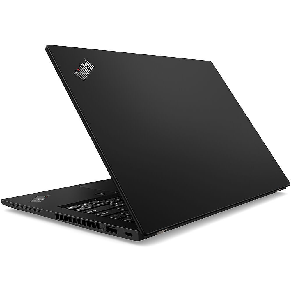 "Left Zoom. Lenovo - 14"" ThinkPad T14 Gen 1 Laptop - 8GB Memory - AMD Ryzen 5 PRO - 256GB Hard Drive."