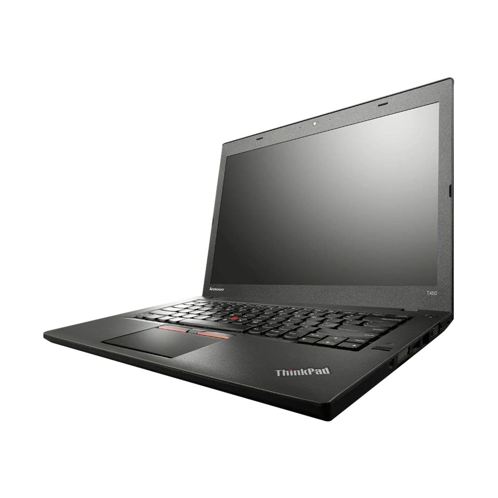 """Front Zoom. Lenovo - ThinkPad T450 14"""" Refurbished Laptop - Intel Core i5 - 8GB Memory - 180GB Solid State Drive - Black."""