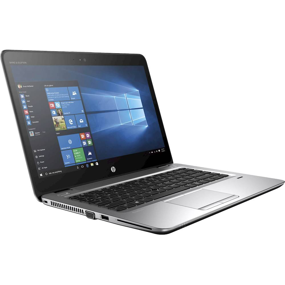 "Angle Zoom. HP - EliteBook 14"" Refurbished Laptop - Intel Core i5 - 8GB Memory - 180GB Solid State Drive - Silver."
