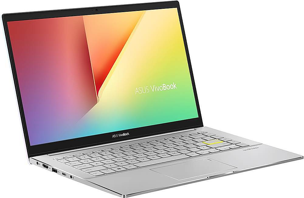 """Angle Zoom. ASUS - VivoBook S14 14"""" Laptop - Intel Core i5 - 8GB Memory - 512GB Solid State Drive - Dreamy White/Transparent Silver."""