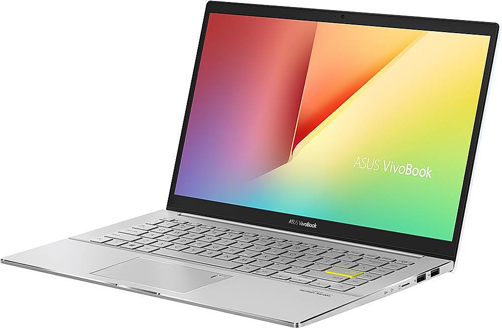 """Left Zoom. ASUS - VivoBook S14 14"""" Laptop - Intel Core i5 - 8GB Memory - 512GB Solid State Drive - Dreamy White/Transparent Silver."""