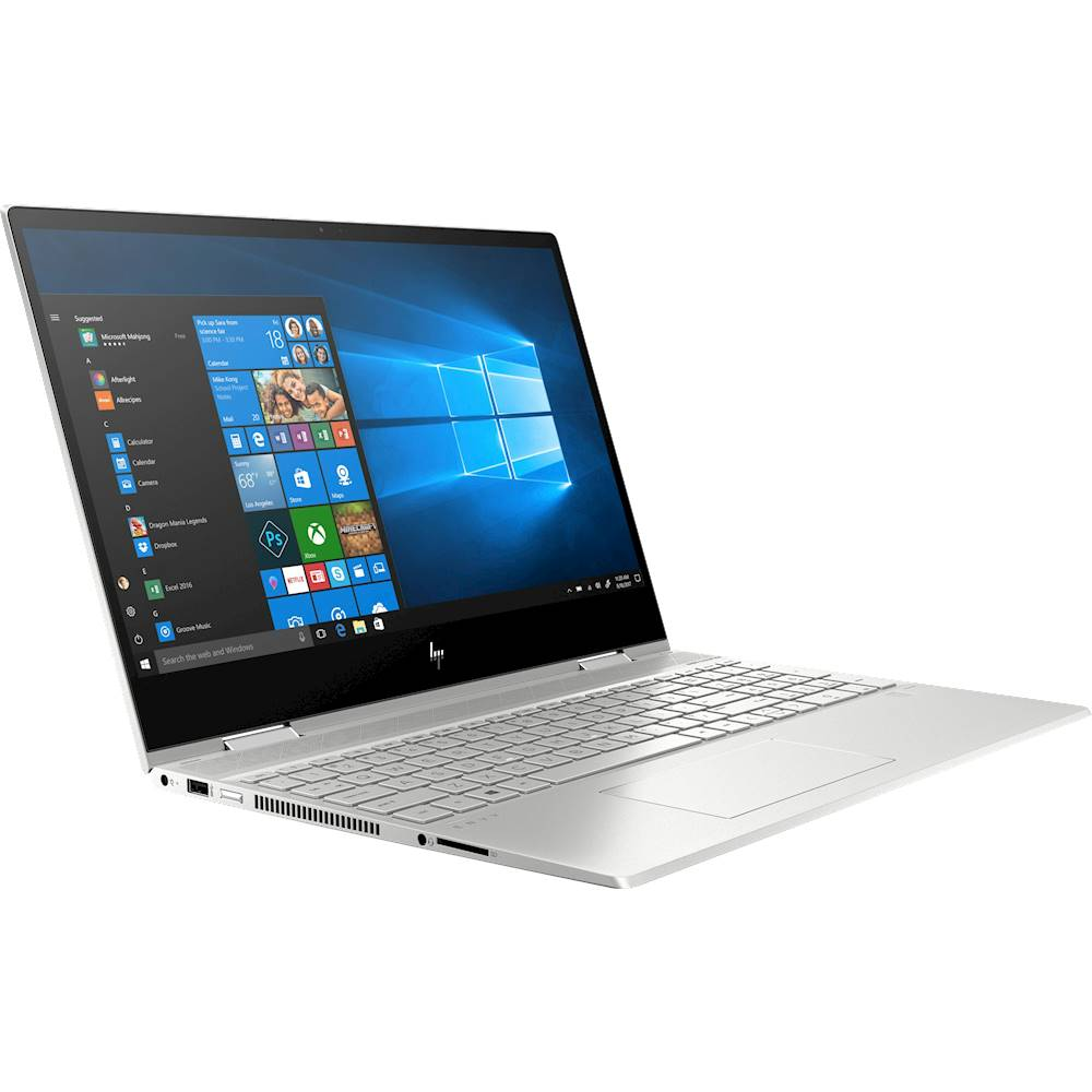 """Angle Zoom. HP - ENVY x360 2-in-1 15.6"""" Touch-Screen Laptop - Intel Core i7 - 8GB Memory - 512GB SSD - Natural Silver, Sandblasted Anodized Finish."""