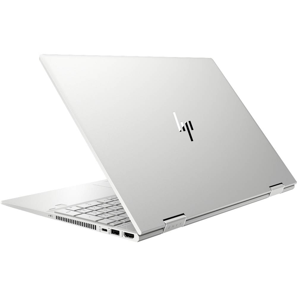 """Alt View Zoom 1. HP - ENVY x360 2-in-1 15.6"""" Touch-Screen Laptop - Intel Core i7 - 8GB Memory - 512GB SSD - Natural Silver, Sandblasted Anodized Finish."""